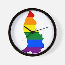 Rainbow Pride Flag Liechtenstein Map Wall Clock