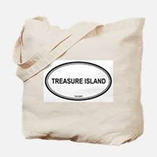 Treasure Island oval Tote Bag