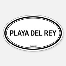 Playa Del Rey oval Oval Decal