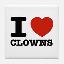 I heart Clowns Tile Coaster