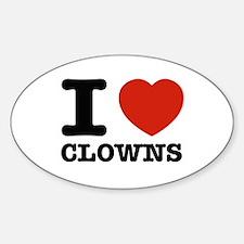 I heart Clowns Decal