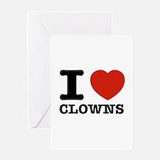 I heart Clowns Greeting Card