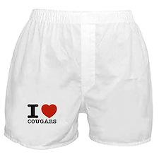 I heart Cougars Boxer Shorts