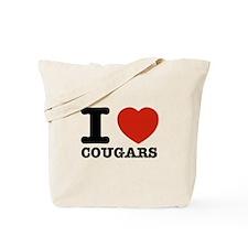 I heart Cougars Tote Bag