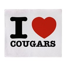 I heart Cougars Throw Blanket