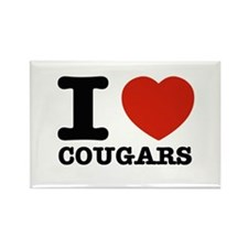 I heart Cougars Rectangle Magnet