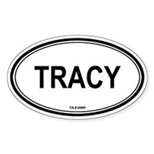 Tracy oval Oval Decal