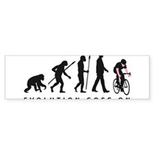 evolution bicycle racer Bumper Sticker