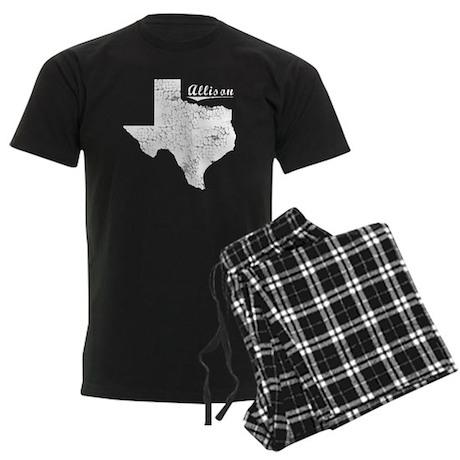 Allison, Texas. Vintage Men's Dark Pajamas