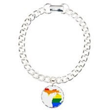 Rainbow Pride Flag Michigan Map Bracelet