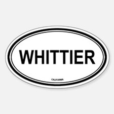 Whittier oval Oval Decal