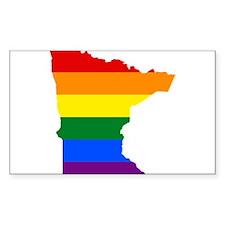 Rainbow Pride Flag Minnesota Map Decal