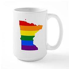 Rainbow Pride Flag Minnesota Map Mug