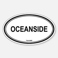 Oceanside oval Oval Decal