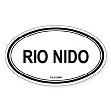 Rio Nido oval Oval Decal