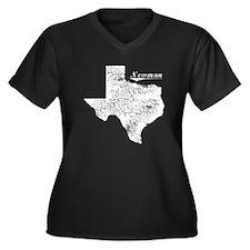 Newman, Texas. Vintage Women's Plus Size V-Neck Da