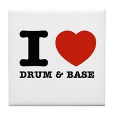 I heart Drum & Base Tile Coaster