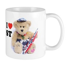 Surf Teddy Standard Small Mug
