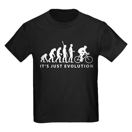 evolution bicycle race Kids Dark T-Shirt