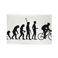 evolution bicycle race Rectangle Magnet