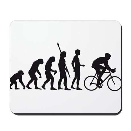 evolution bicycle race Mousepad