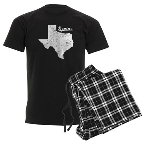 Devine, Texas. Vintage Men's Dark Pajamas