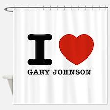 I heart Gary Johnson Shower Curtain