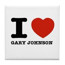 I heart Gary Johnson Tile Coaster