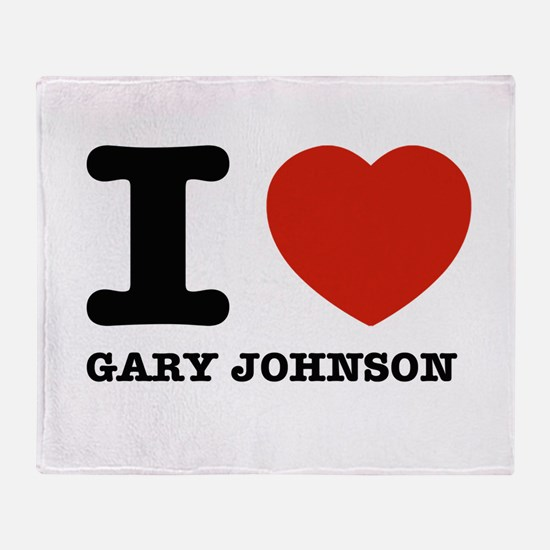 I heart Gary Johnson Throw Blanket
