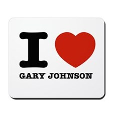 I heart Gary Johnson Mousepad
