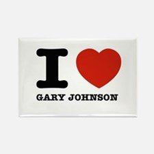 I heart Gary Johnson Rectangle Magnet