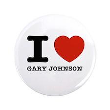"I heart Gary Johnson 3.5"" Button"