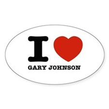 I heart Gary Johnson Decal