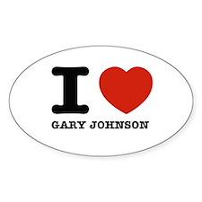 I heart Gary Johnson Stickers