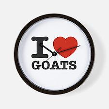 I heart Goats Wall Clock