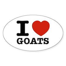I heart Goats Decal