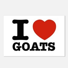 I heart Goats Postcards (Package of 8)
