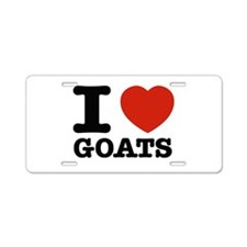 I heart Goats Aluminum License Plate