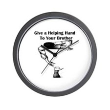 Give a Helping Hand to Your Brother Wall Clock