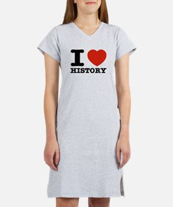 I heart History Women's Nightshirt