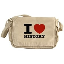 I heart History Messenger Bag