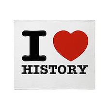 I heart History Throw Blanket