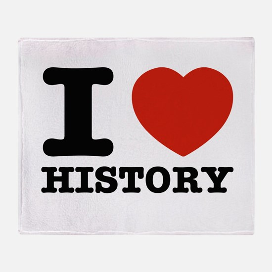 I heart History Throw Blanket