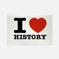 I heart History Rectangle Magnet