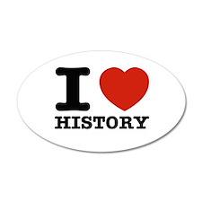 I heart History Wall Sticker