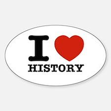I heart History Decal