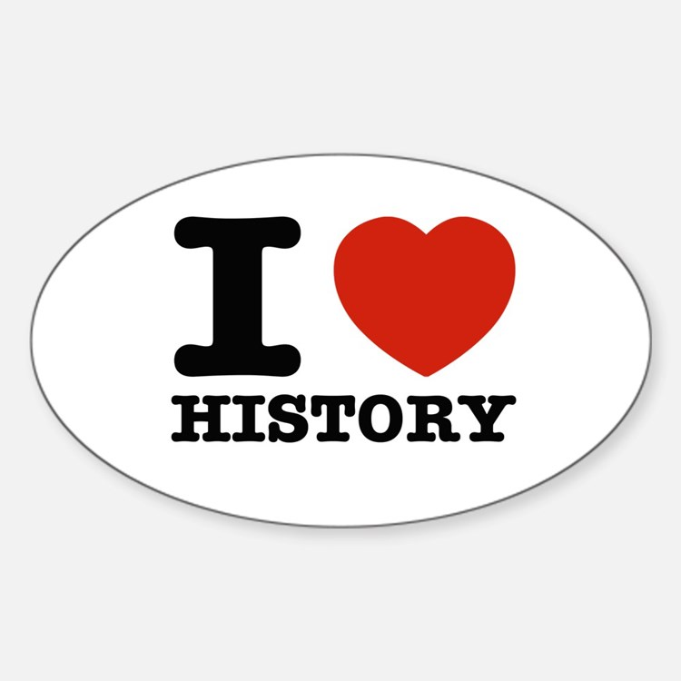 I heart History Decal