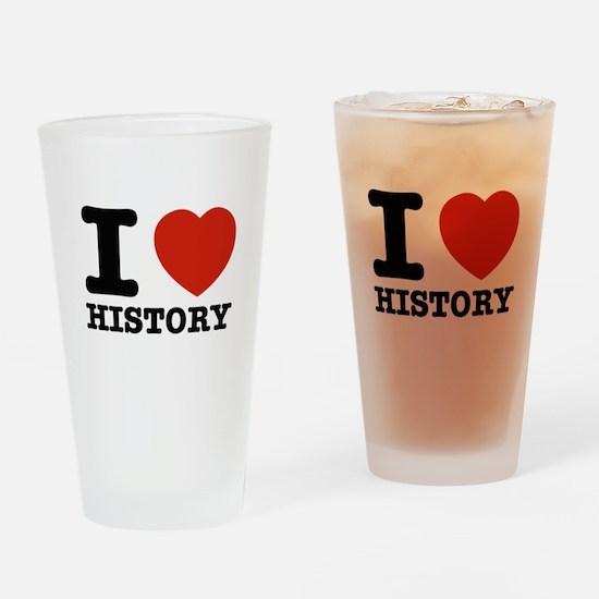 I heart History Drinking Glass