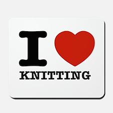 I heart Knitting Mousepad