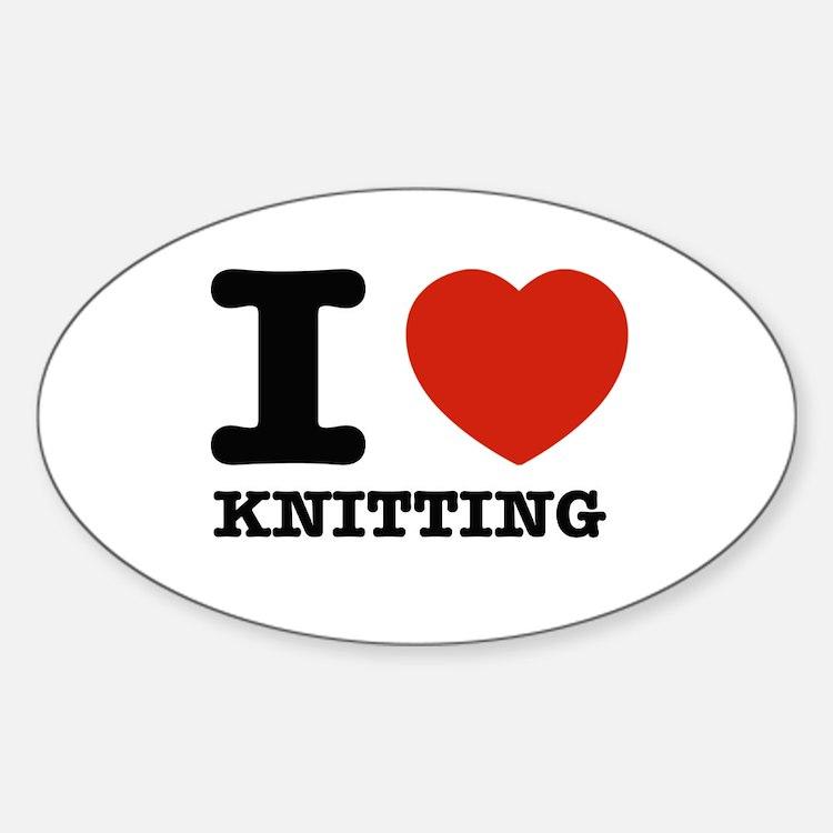 I heart Knitting Decal